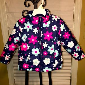 Cute flower design litte girls coat